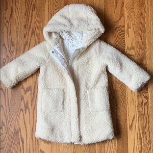 Gap Girls Cozy Hooded Coat (Snow Cap)